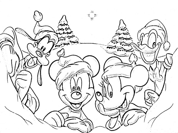 Free Christmas Coloring Pages Of Disney Characters