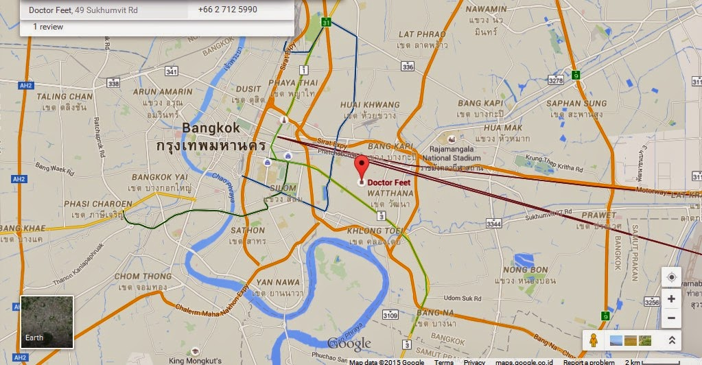 Doctor Feet Bangkok Map Tourist Attractions in Bangkok Thailand – Thailand Tourist Attractions Map