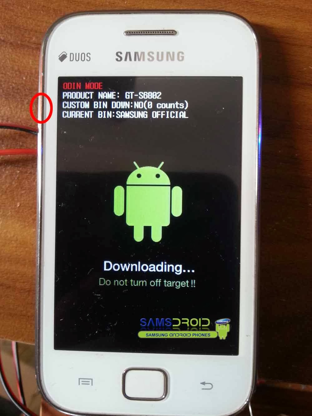 Samsung Galaxy Ace Duos GT-S6802 Download Mode