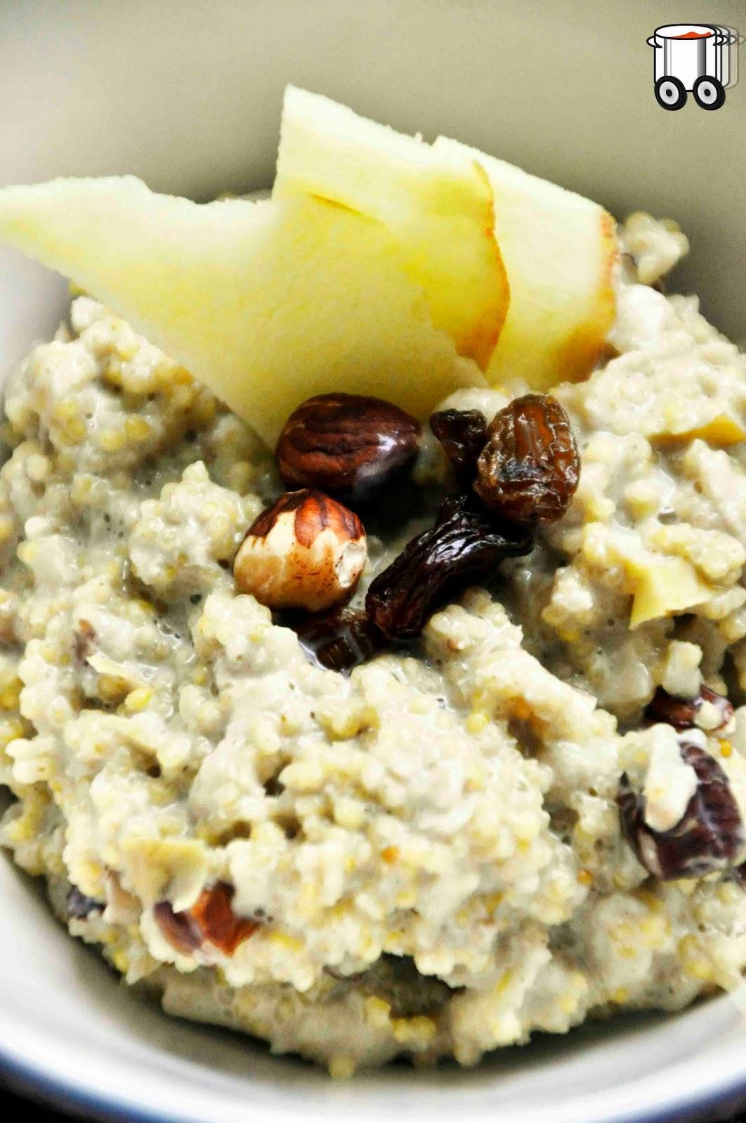 Szybko Tanio Smacznie - Śniadaniowa kasza jaglana z jabłkiem (bez laktozy, bez glutenu)