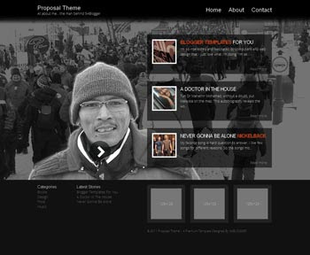 Proposal Theme Blogger Template. minimalist blogger template