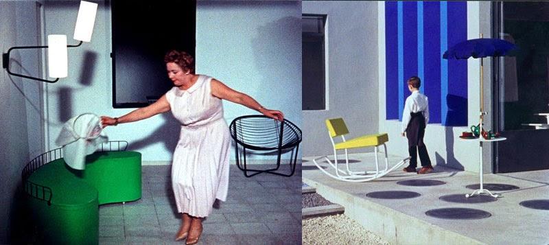 Interiorismo y arquitectura de Mon Oncle de Jacques Tati