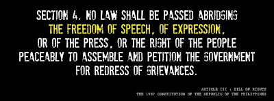 Freedom of speech - no to cybercrime law