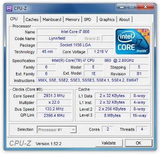 CPU-Z: Software Gratis Untuk Mengetahui Informasi CPU