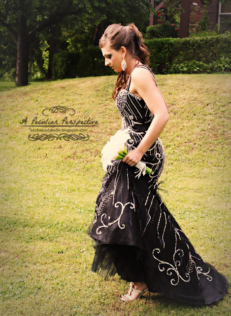 prom black mermaid beaded formal gown