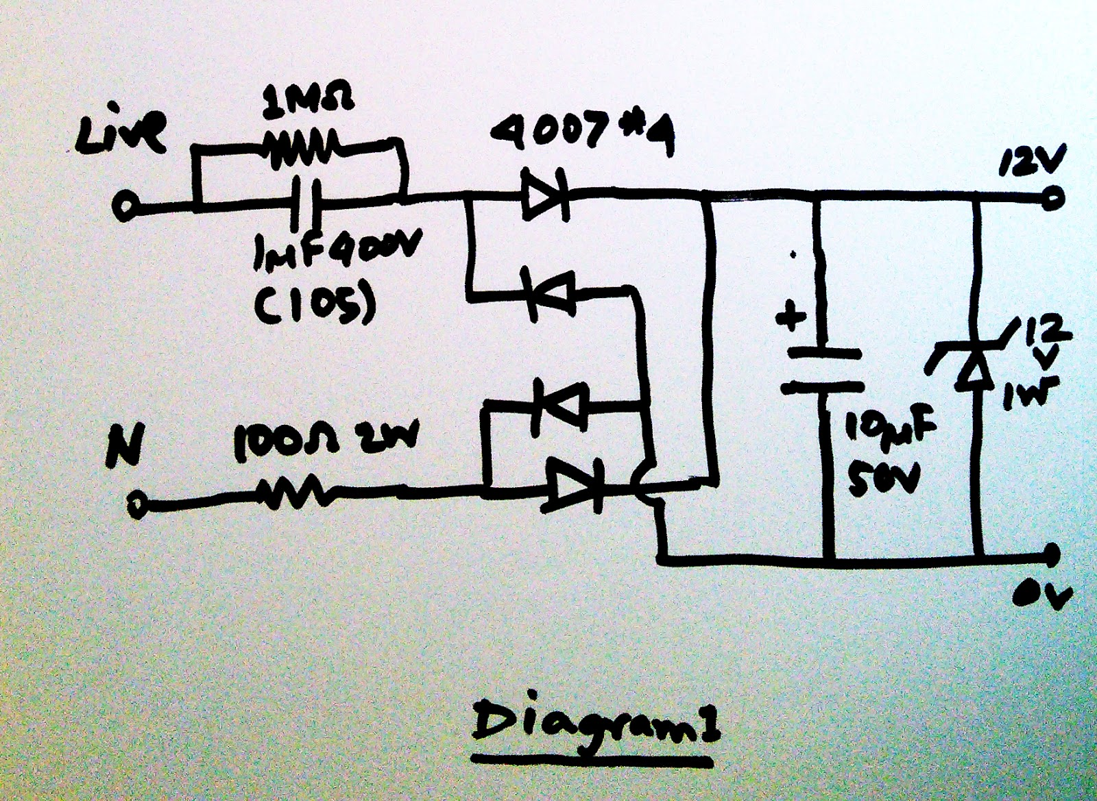 Scavengers Blog Transformerless Power Supply Unit 12v 100ma How It Works