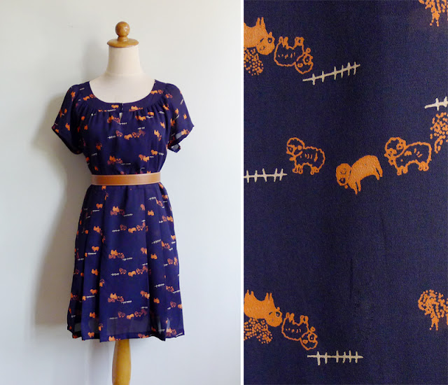 vintage novelty animal print dress