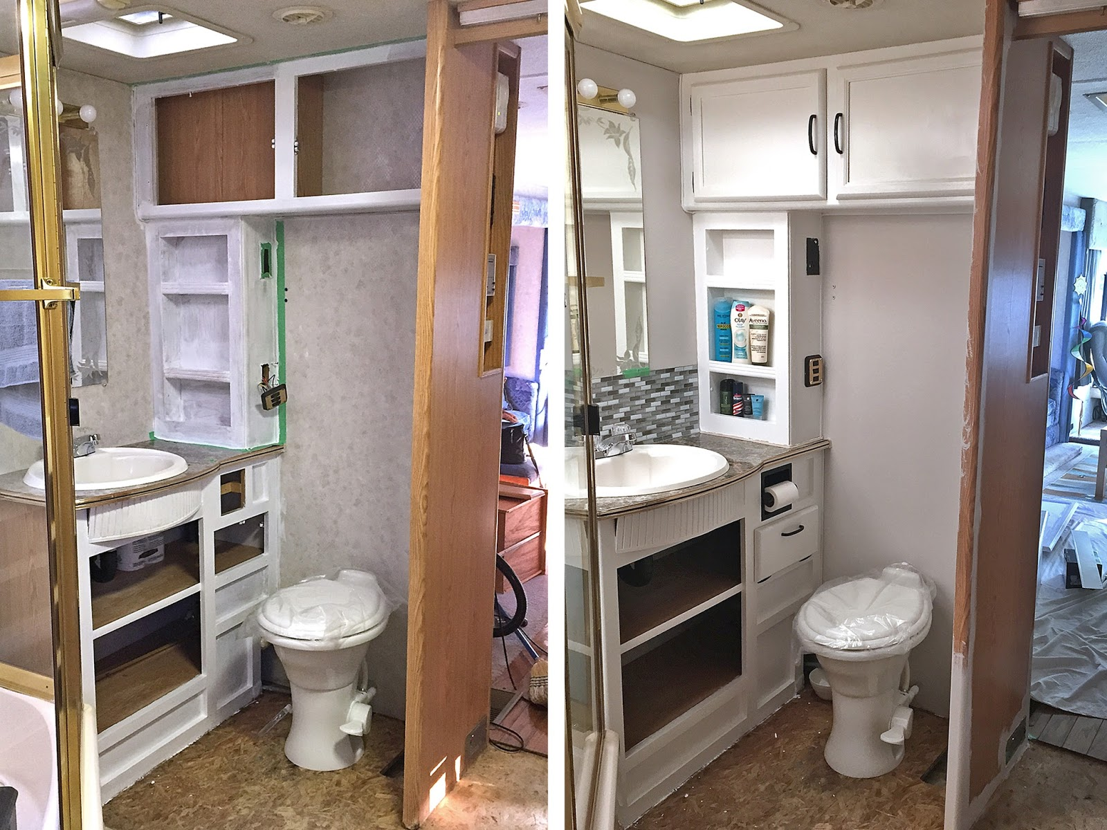 What Happened Next RV Renovation The Bathroom Edition - 80s bathroom remodel