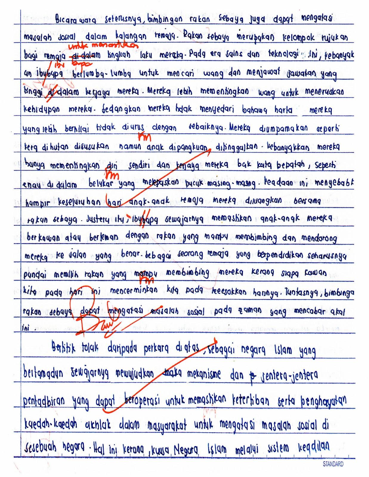 Contoh Karangan Bahasa Melayu Tingkatan 1 Dzien Ojca