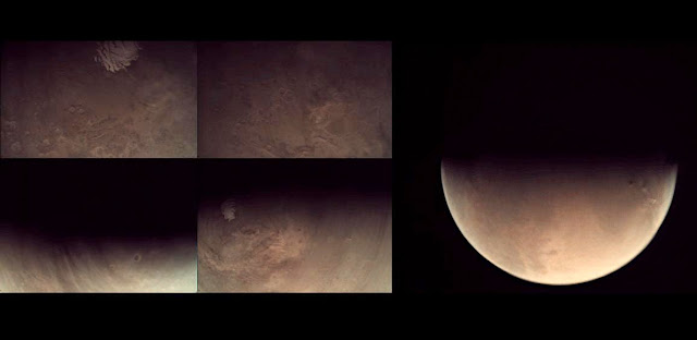VMC image collage. Credit: ESA/Mars Express/VMC