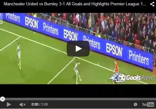 Highlights Liga Inggris : Manchester United vs Burnley 3-1