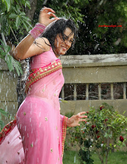 trisha wet saree aranmanai2