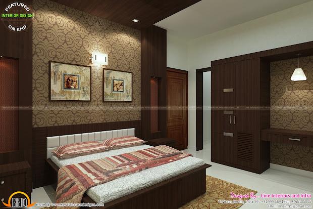 Beautiful Interior Design Of Bedrooms - Kerala Home