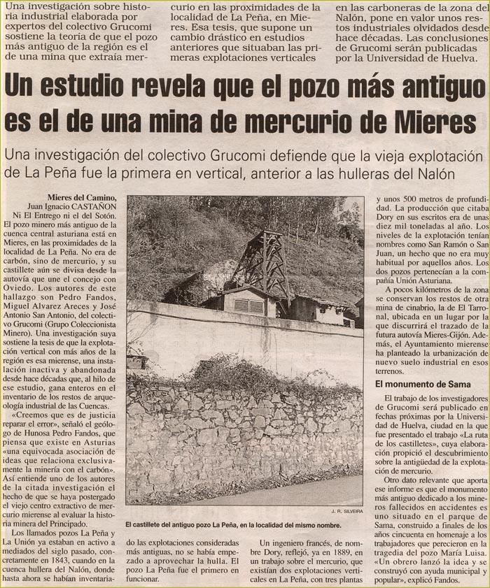 Noticias de GRUCOMI en prensa, 1998