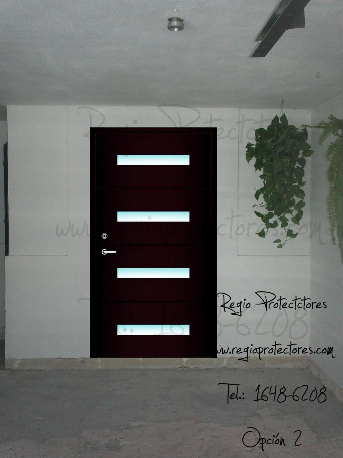Regio protectores puerta principal de hierro estilo for Modelos de puertas principales para casas