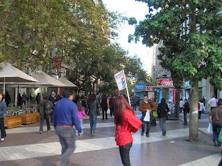 Paseo La Ahumada, Santiago de Chile, Chile, vuelta al mundo, round the world, La vuelta al mundo de Asun y Ricardo