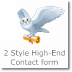 2 Style Contact form for Blogger/websites