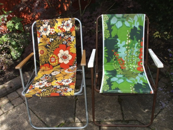 This Pair Of 1970s Floral Deckchairs Is For Sale On EBay. The Chairs Have  Three Bids On Them Already U2013 But Are Only Up To £26.01. The Auction Ends  Tomorrow.
