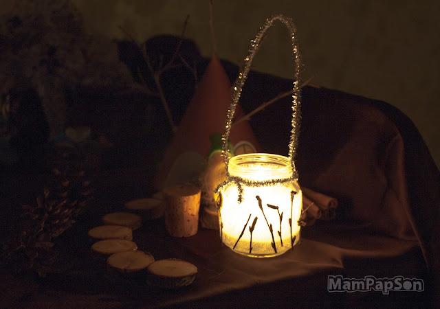 Древесный фонарик