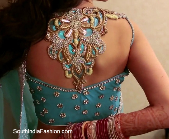 saree blouse back neck designs � south india fashion
