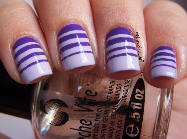 polish nail ideas stripes