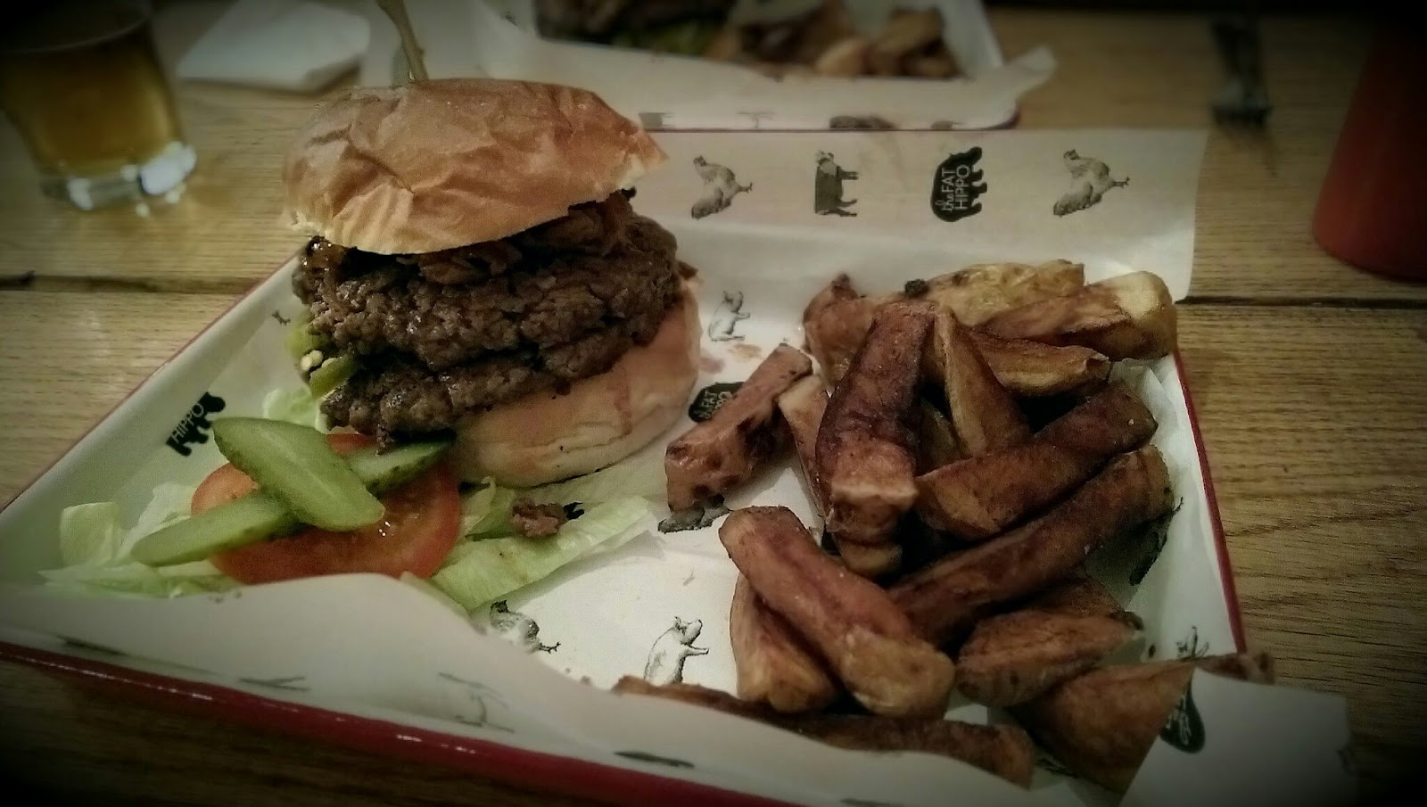 Patchy Growth Restaurant Review Fat Hippo Underground Newcastle Nero 3 A Crap Picture Of Great Burger