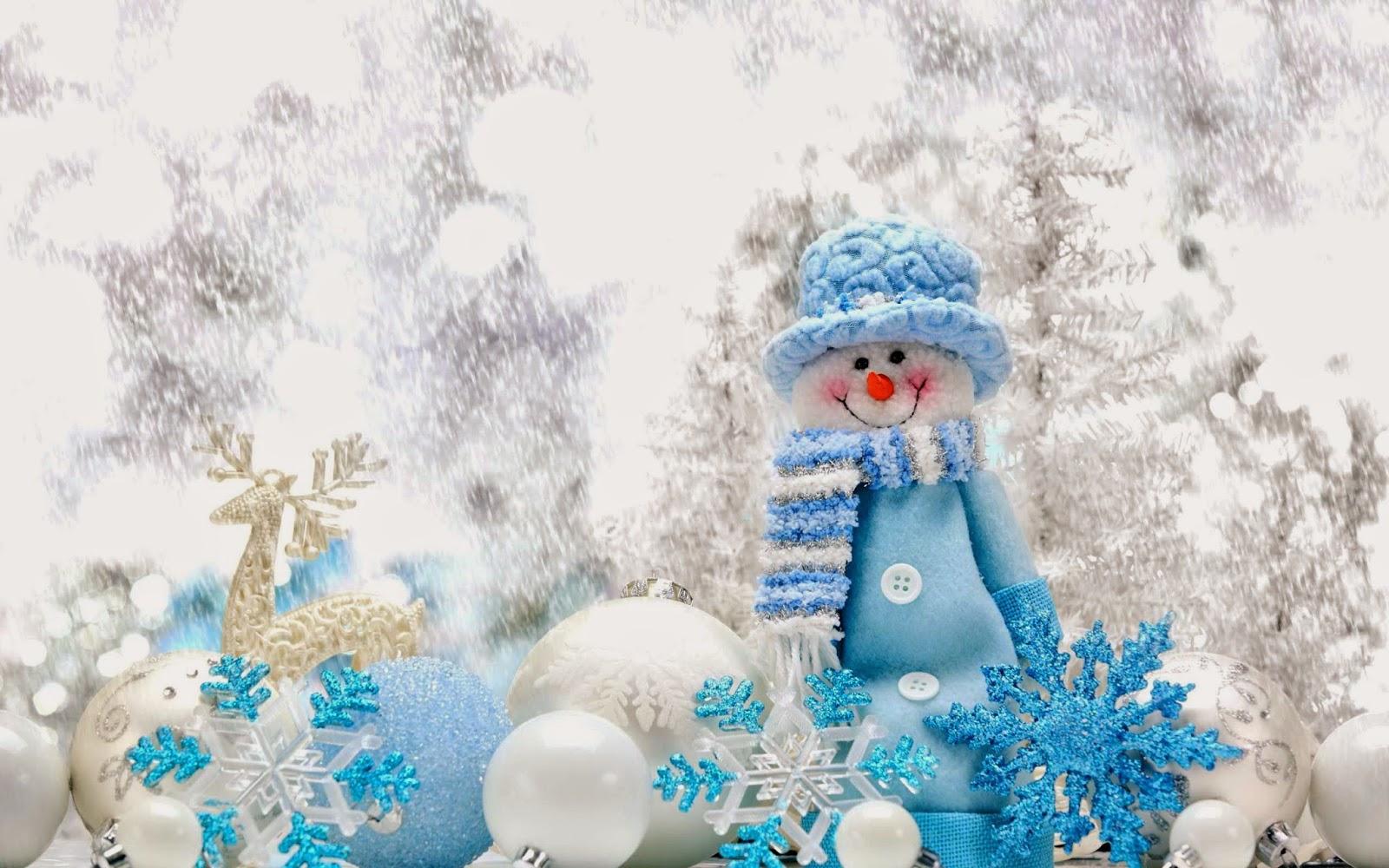 Cute-smile-snowman-blue-dress-snow-background-HD-wallpaper-for-desktop-pc-Mac.jpg