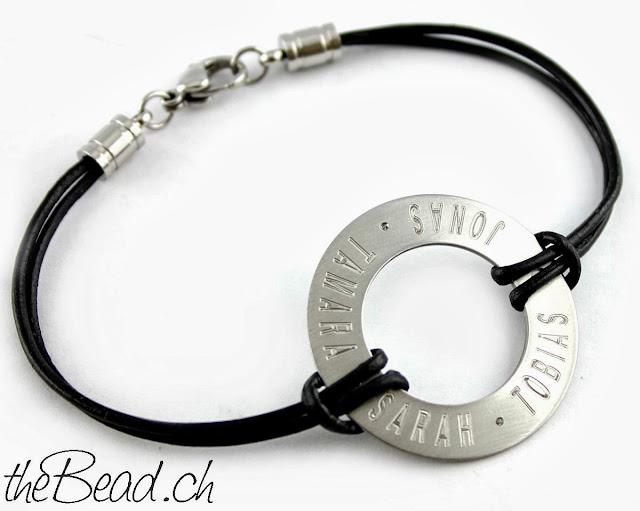Gravur Armband mit dem Namen deiner liebsten graviert