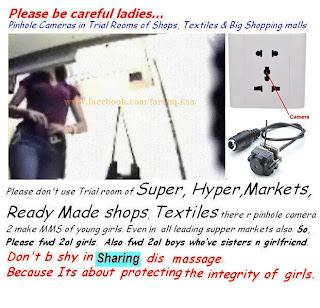 """""""Spy Cameras"""" boleh didapati di pasaran, Berhati-hati!!"""