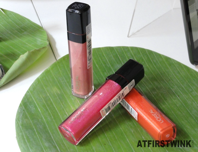 L'Oréal infallible gloss pinks orange lipglosses