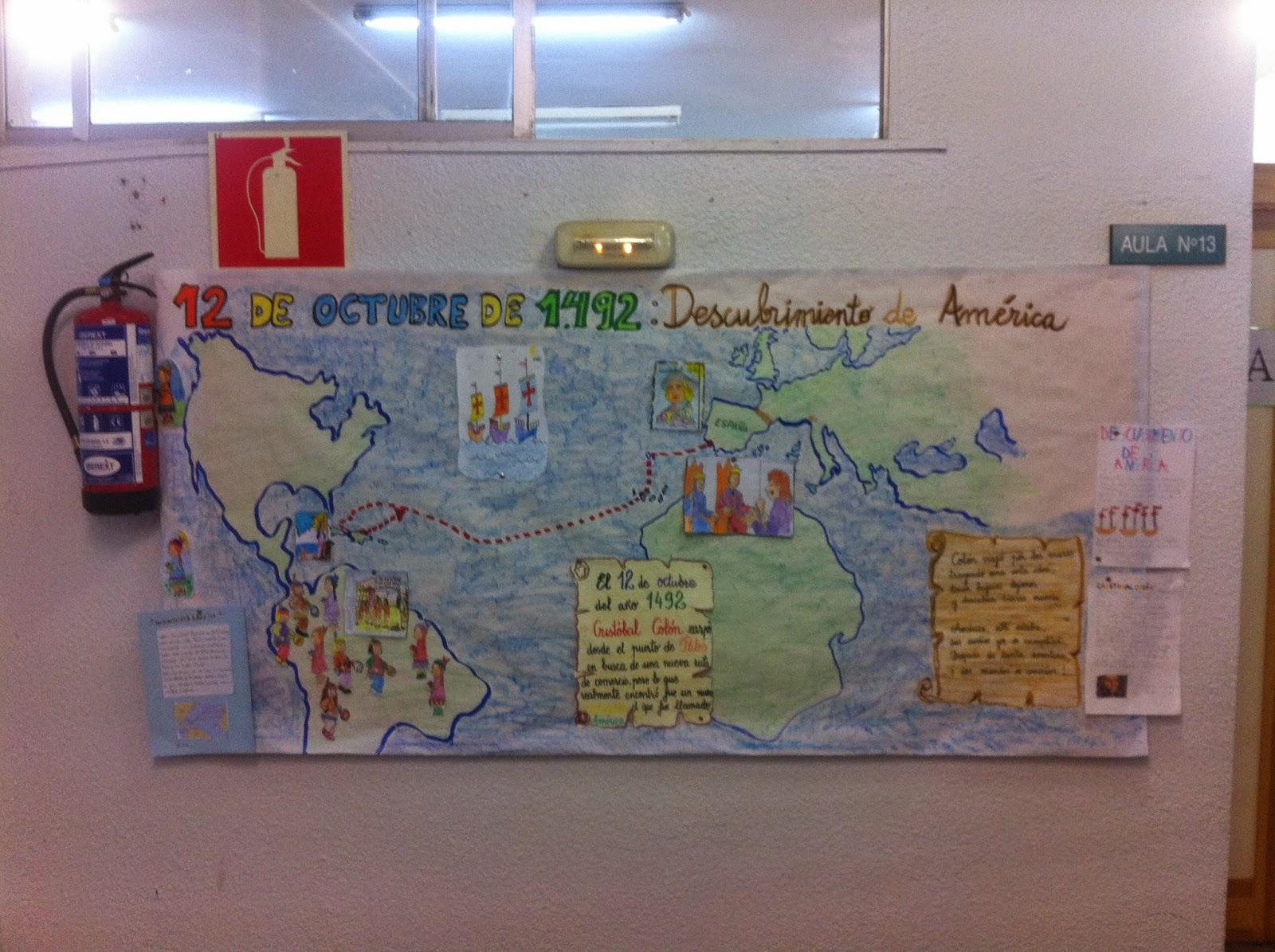 Segundo del colegio iplacea mural sobre el descubrimiento for Comedores 12 de octubre