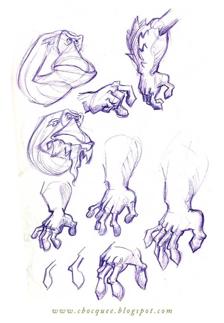 Hyde character design process sketches