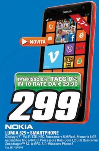 Arriva in italia il nuovo smartphone wp8 dal grande display disponibile a tasso zero senza interessi reali da Saturn
