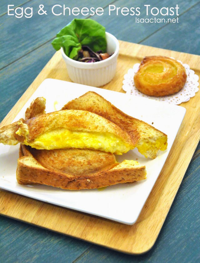 Egg & Cheese Press Toast - RM7