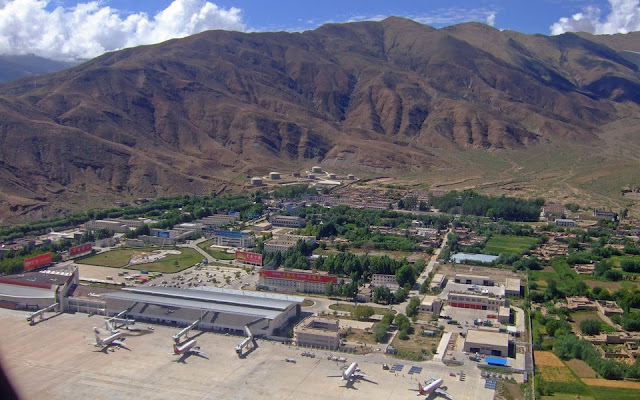 WORLD's HIGHEST AIRPORT, (LHASA GONGGAR, TIBET AIRPORT)