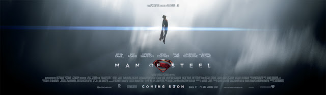 Man Of Steel Flying Banner Poster