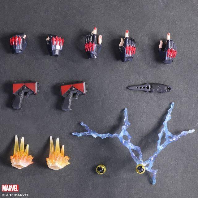 Play Arts Kai Black Widow Variant Hand Guns