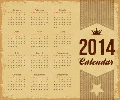 Gratis En Internet: Nuevos modelos de calendarios 2014, editables para