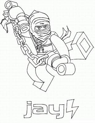 LEGO Ninjago Jay Coloring Page