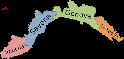 Mapa de Liguria Imagen