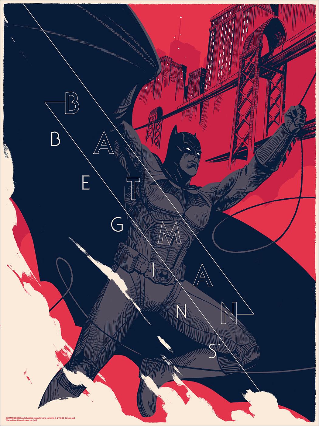 inside the rock poster frame blog batman begins amp batgirl