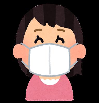 マスクをした人のイラスト(女性)