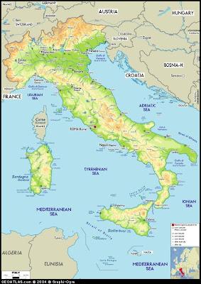 Kart over Italia Bilder