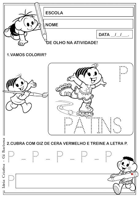Atividade Letra P Pontilhada