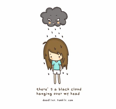 black cloud over my head