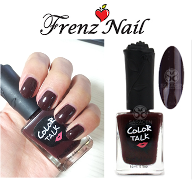 Frenznail Rock12 dark brown nail polish
