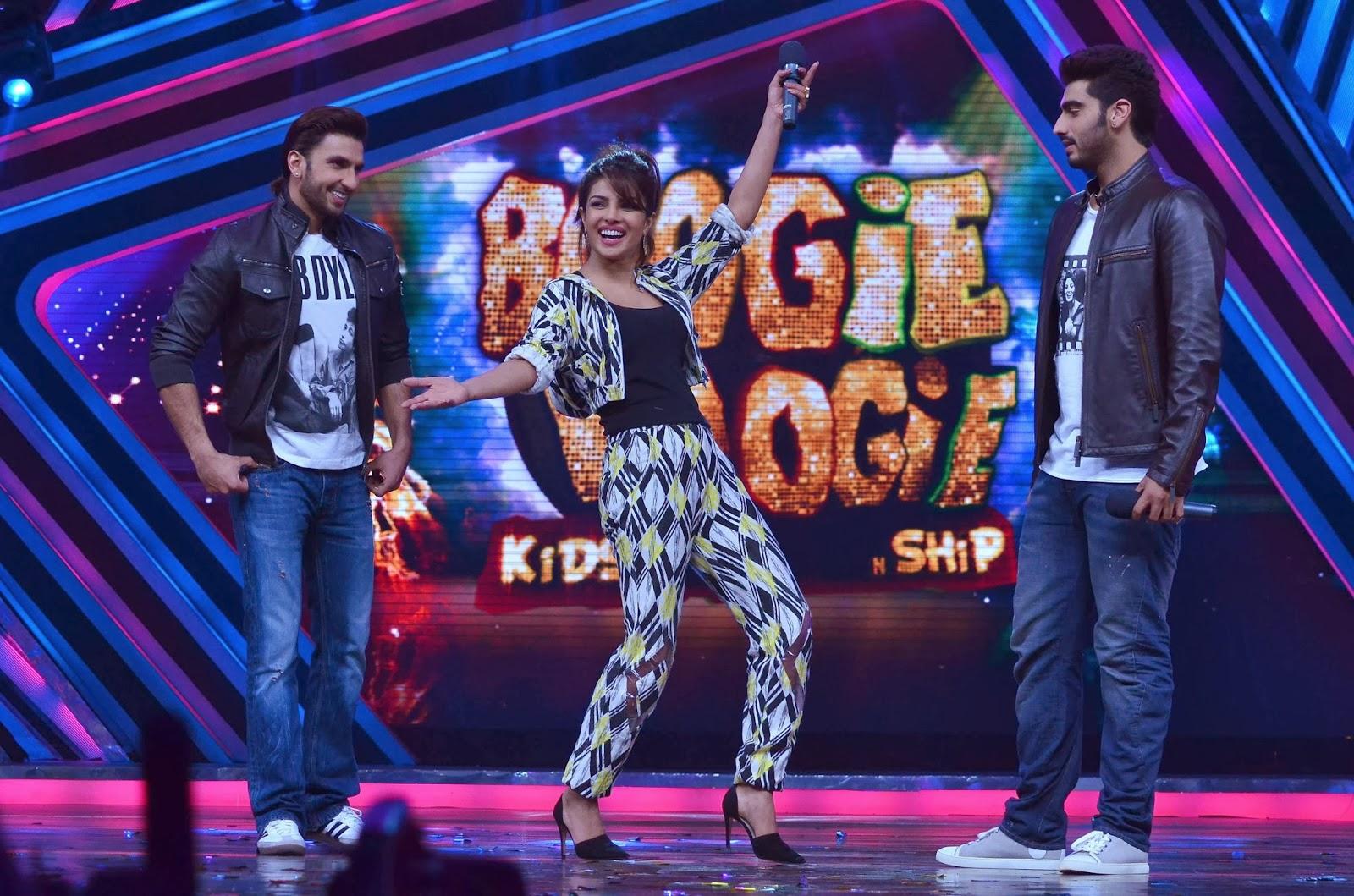 Arjun Kapoor, Priyanka Chopra and Ranveer Singh at Boogie Woogie
