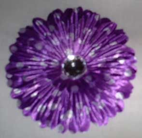 Little Girls Purple Flower Hair Clip