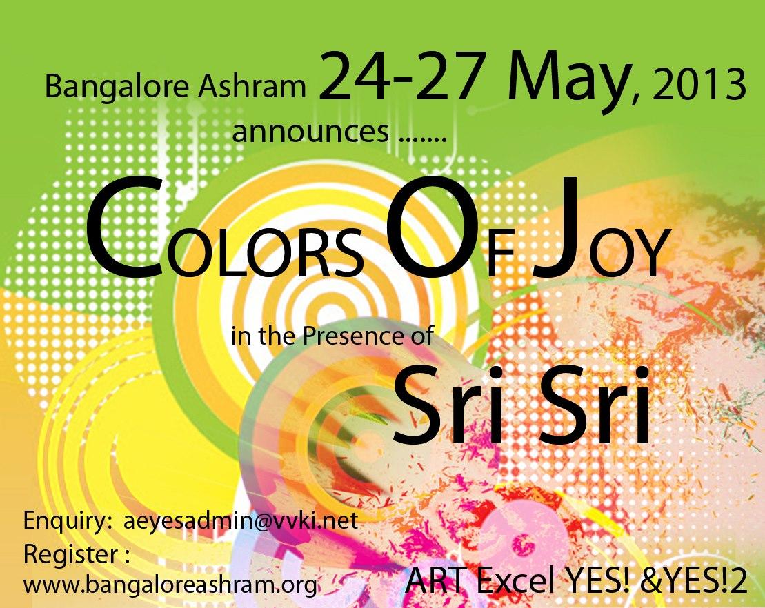 Colours of Joy with Sri Sri Ravi Shankar in Bangalore Ashram