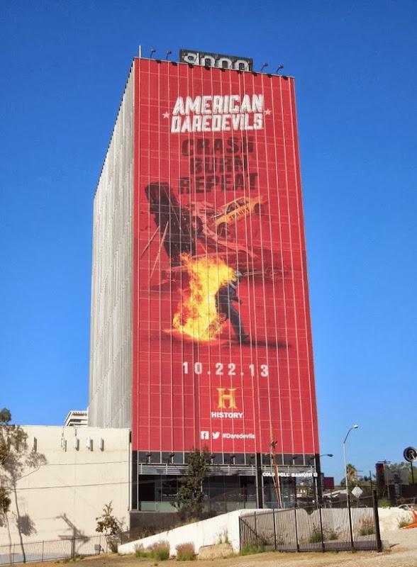 Giant American Daredevils series premiere billboard